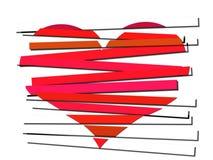 Listra o coração Foto de Stock Royalty Free