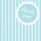 Listrados azuis agradecem-lhe anotar Imagem de Stock
