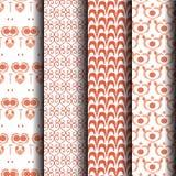 Listras alaranjadas e brancas do teste padrão sem emenda Fotografia de Stock Royalty Free