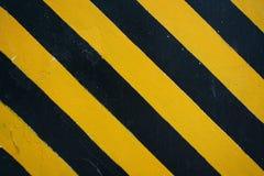 Listras amarelas pretas do perigo Fotografia de Stock