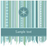 Listras azuis e projeto de cartão dos círculos Fotos de Stock Royalty Free
