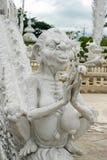Listras brancas de Tailândia da arte da estátua Imagem de Stock