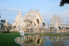 Listras brancas de Tailândia da arte da estátua Foto de Stock Royalty Free