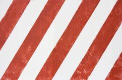 Listras brancas vermelhas Fotografia de Stock Royalty Free