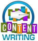 Listras coloridas do círculo da escrita satisfeita Imagens de Stock Royalty Free