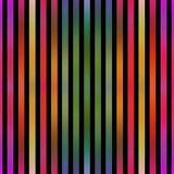Listras coloridas do efeito metálico sem emenda no preto Imagem de Stock Royalty Free
