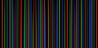 Listras coloridas em um fundo preto Foto de Stock