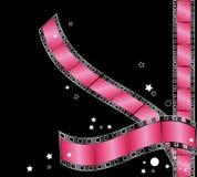 Listras cor-de-rosa da película ilustração royalty free