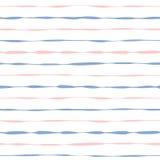 Listras cor-de-rosa e azuis do grunge sem emenda do fundo Imagem de Stock Royalty Free