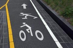 Listras da marcação de estrada para esportes foto de stock royalty free