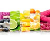 Listras da mistura do gelado do fruto fotografia de stock