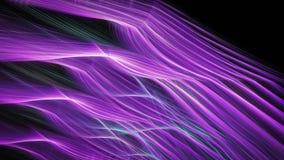 Listras de incandescência brilhantes abstratas da energia cor-de-rosa e verde Ilustração Royalty Free