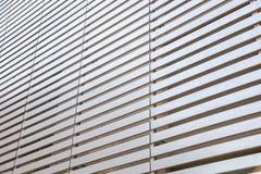 Listras de madeira que constroem a fachada Imagens de Stock