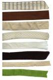 Listras de matéria têxtil ajustadas imagem de stock