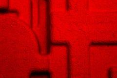 Listras de tiragem abstratas da textura da cor vermelha dos sentidos diferentes foto de stock