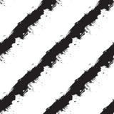 Listras diagonais pretas no fundo branco Fotografia de Stock