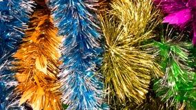 Listras do arco-íris do brilho pelo Natal e o ano novo Fotografia de Stock
