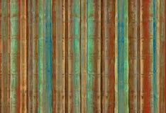 Listras do bambu do verde azul e do vermelho fotografia de stock