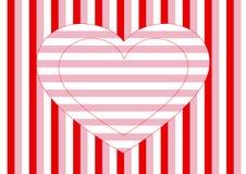 Listras do coração, as horizontais e as verticais Fotos de Stock