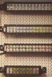Listras do diodo emissor de luz na parede Fotografia de Stock