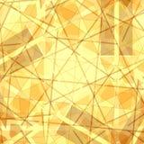 Listras do ouro e linhas textura Foto de Stock