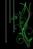 Listras e estrelas verdes Foto de Stock Royalty Free