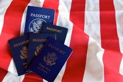 Listras e passaportes Imagens de Stock Royalty Free