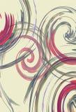 Listras espirais abstratas coloridas no contexto leitoso claro ilustração do vetor