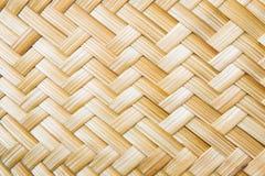Listras feitas da tecelagem de bambu Fotografia de Stock