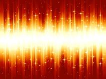 Listras festivas douradas vermelhas vibrantes Imagens de Stock