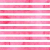 Listras horizontais cor-de-rosa da aquarela Ilustração do vetor imagens de stock royalty free