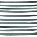 Listras horizontais pretas e cinzentas watercolor imagem de stock