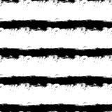 Listras horizontais pretas no fundo branco Fotos de Stock Royalty Free