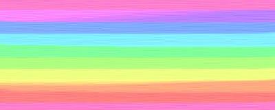 Listras largas misturadas da pintura grossa em cores do arco-íris Foto de Stock Royalty Free