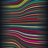 Listras onduladas da cor Imagens de Stock Royalty Free