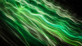 Listras onduladas verdes lisas e elegantes Ilustração do Vetor