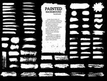 Listras pintadas do grunge ajustadas Fotos de Stock