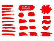 Listras pintadas do grunge ajustadas Imagens de Stock