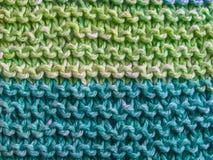 Listras que tricotam manualmente imagens de stock royalty free