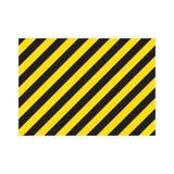 Listras retangulares listradas de advertência do fundo, as amarelas e as pretas na diagonal, um aviso a ser cuidadoso ilustração royalty free