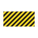 Listras retangulares listradas de advert?ncia do fundo, as amarelas e as pretas na diagonal, um aviso a ser cuidadoso ilustração royalty free