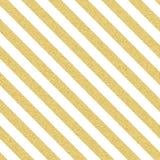 Listras sem emenda glittery do ouro, linhas teste padrão no fundo branco Eps 10 ilustração royalty free