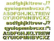 Listras verdes das letras Fotos de Stock