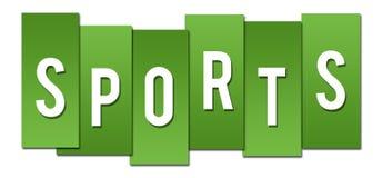 Listras verdes dos esportes ilustração do vetor