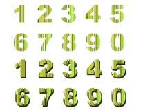 Listras verdes dos números Fotografia de Stock