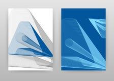 Listu 3D isometric prążkowany geometryczny projekt dla sprawozdania rocznego, broszurka, ulotka, plakat Geometryczny A listu tła  ilustracji