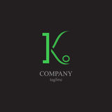Listu K logo - symbol twój biznes Zdjęcia Royalty Free