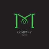 Listu M logo - symbol twój biznes Fotografia Royalty Free