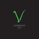 Listu V logo - symbol twój biznes Zdjęcia Royalty Free