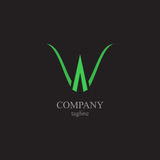Listu W logo - symbol twój biznes Obrazy Royalty Free